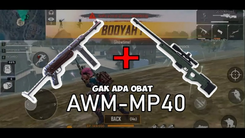 free fire AWM and MP40 Zevan