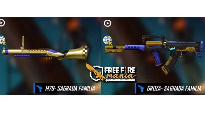 free fire GROZA and M79 Free Fire Mania
