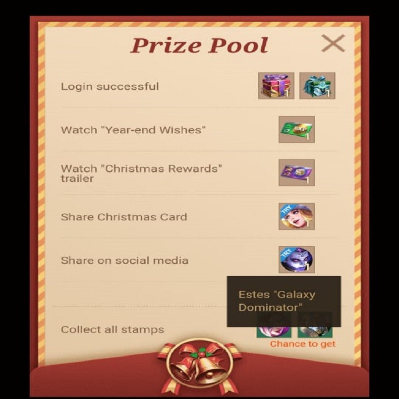 Event Christmas Stamp Collection Mobile Legends