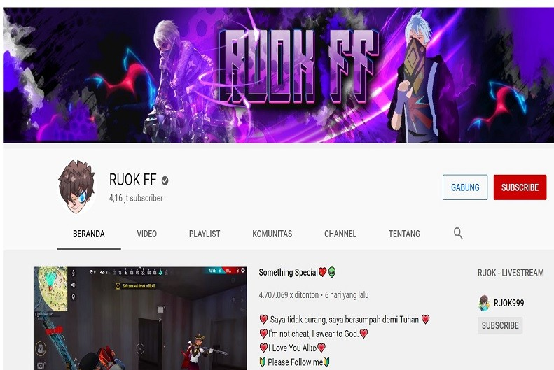 Kasus Ruok Free Fire